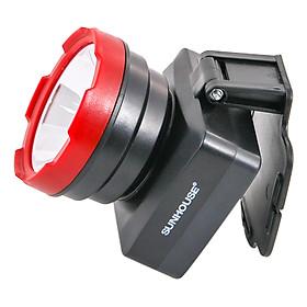 Đèn Pin Đội Đầu Cỡ Trung Sunhouse SHE5032 - Đen Đỏ