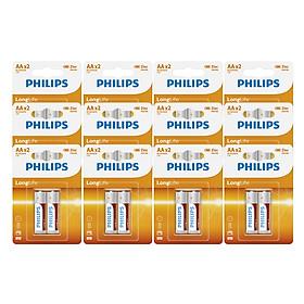 Combo 12 Vĩ - Pin Kẽm Philips AA R6L2B (24 Viên AA) - Cam