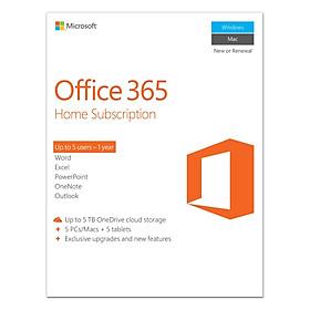 Phần Mềm Microsoft Office 365 Home English APAC - 1 Năm