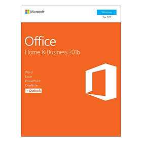 Phần Mềm Microsoft Office Home And Business 2016 32-Bit/x64 English APAC