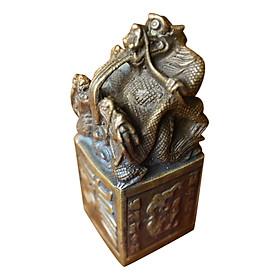 Cửu Long Kim Ấn Bảo Tỷ Hồng Thắng (Cao 13cm)