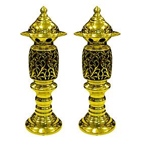 Đôi Đèn Thờ Phật Quang Phổ Chiếu Số 3 Dũng Thư (Cao 43cm)