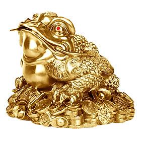 Tượng Thiềm Thừ Nhỏ Đồng Thau Hồng Thắng (Cao 10cm)