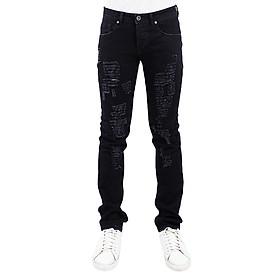 Quần Jeans Nam Skinny Rách A91 JEANS MSKBS072BK - Đen