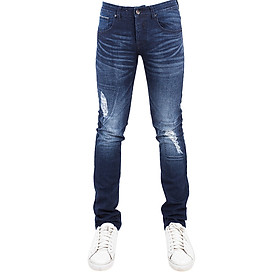 Quần Jeans Nam Skinny Wash A91 JEANS MSKBS199ME - Xanh