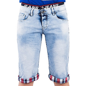 Quần Short Jeans Nam Wash Loang A91 JEANS MSRBS201ME - Xanh Nhạt