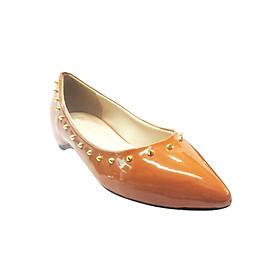 Giày Búp Bê Viền Đinh Up & Go B02-573-BRO - Nâu