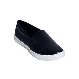 Giày Slipon Da Mờ Merlyshoes 0838 - Đen