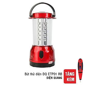 Đèn Sạc LED 2W Daylight Cầm Tay Điện Quang ĐQ PRL01 02765 (Đỏ) - Tặng Bút Thử Điện Điện Quang ĐQ ETP01 RB (Đỏ Đen)