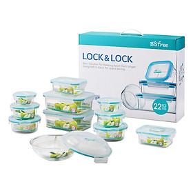 Combo 10 Hộp Nhựa Bisfree Table Top Lock&Lock LBF631S10
