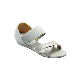 Giày Sandal Nữ Thun Quai Chéo Đế Xuồng Princess PRIN10X - Xám