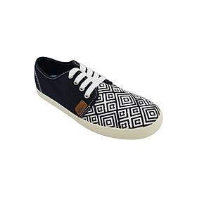 Giày Sneaker Nữ Buộc Dây D&A L1605 - Xanh Chàm