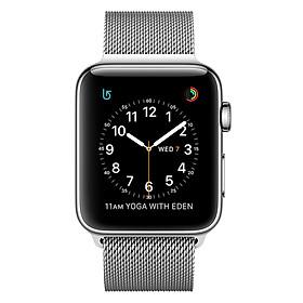 Đồng Hồ Thông Minh Apple Watch Stainless Steel Series 2 - 42mm MNPU2 Silver Milanese Loop - Hàng nhập khẩu