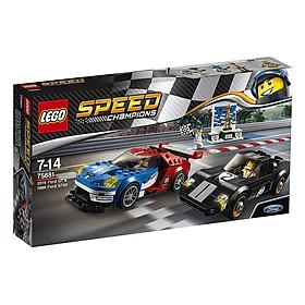Mô Hình Lego Speed Champions - 2016 Ford Gt Và 1966 Ford Gt40 75881 (366 Mảnh Ghép)