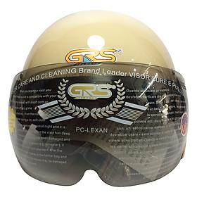 Mũ Bảo Hiểm GRS A08K - Sữa Bóng