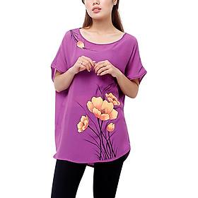 Áo Kiểu Nữ Vẽ An Thủy TN503 - Tím