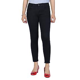 Quần Jeans Skinny Nữ Trơn 005 A91 JEANS WSKBS005BK - Đen