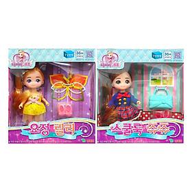 Combo Đồ Chơi Búp Bê Little School Girl Jouju Và Little Fairy Lilly