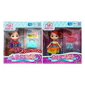 Combo Đồ Chơi Búp Bê Little School Girl Jouju Và Little Fairy Sasha