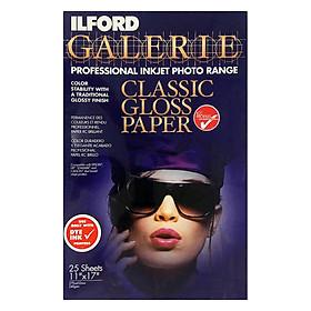 Giấy In Ảnh ILFORD 1 Mặt Bóng (Glossy) 11 x 17 inch (29.7 x 43.2cm) 240gsm 25 Tờ