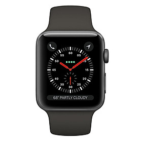 Apple Watch Series 3 Space Gray Aluminum Case With Gray Sport Band
