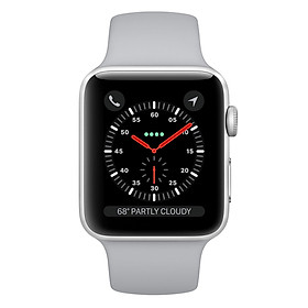 Apple Watch Series 3 Silver Aluminum Case with Fog Sport Band - Hàng Chính Hãng