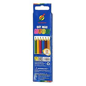 Bộ Bút Chì Màu 6 Cây Neon Hộp Giấy CP-6NEON