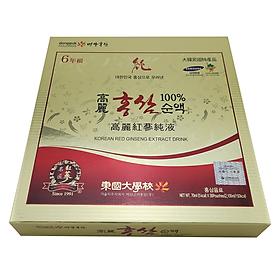 Thực Phẩm Chức Năng Nước Hồng Sâm Nguyên Chất 100% Dongguk Hàn Quốc Basan Korea Red Ginseng (30 Gói)