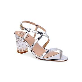 Giày Sandal Nữ Gót Vuông Shinno 22001 - Bạc