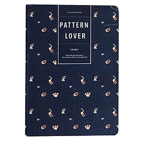 Sổ Tay Ruột Trơn Crabit Notebuck Pattern Lover 1504d (20.8 x 14.5 cm)
