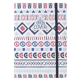 Sổ Tay Kẻ Ngang Crabit Notebuck Pattern Lover 1551b (20.8 x 14.5 cm)