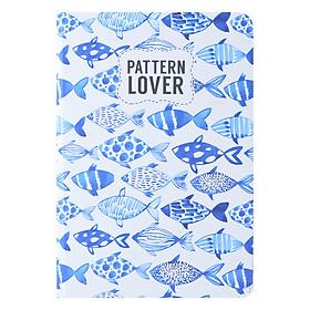 Sổ Tay Kẻ Ngang Crabit Notebuck Pattern Lover 1501b (19 x 13 cm)