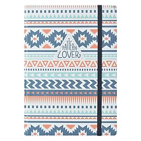 Sổ Tay Kẻ Ngang Crabit Notebuck Pattern Lover 1551a (20.8 x 14.5 cm)