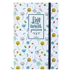 Sổ Tay Kẻ Ngang Crabit Notebuck Live With Passion 1506b - Trắng (19 x 13 cm)
