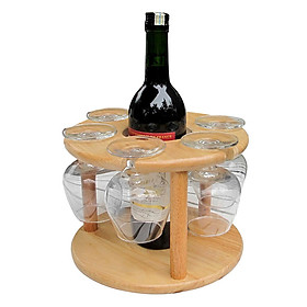 Kệ Ly Và Chai Rượu Gỗ Đức Thành - 27041