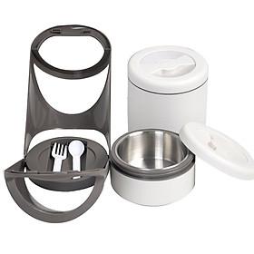 Hộp Đựng Cơm Giữ Nhiệt 2 Ngăn Homemax HMCM-TLB-2 - 1.7 Lít