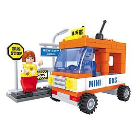 Đồ Chơi Lắp Ráp Ausini - Thành Phố Hiện Đại - Mini Bus 25302 (93 Mảnh Ghép)