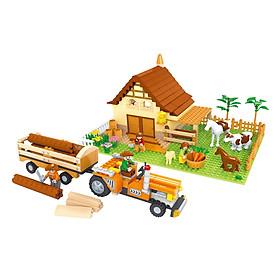Đồ Chơi Lắp Ráp Ausini - Nông Trại Vui Vẻ - Nông Trại Chăn Nuôi 28901 (626 Mảnh Ghép)