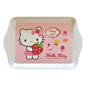 Khay Mini Hình Chữ Nhật Bằng Nhựa Lock&Lock Hello Kitty LKT462 (21 x 14 x 1.9 cm)