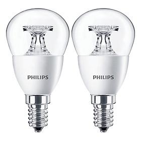 Bộ 2 Bóng Đèn Philips LED Nến 5.5W 2700K E14 P45 - Ánh Sáng Vàng - Hàng Chính Hãng
