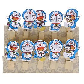 Bộ Kẹp Ảnh Gỗ Doraemon An Phát (10 Cái)