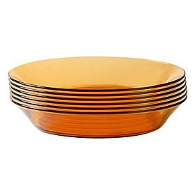 Bộ 6 Đĩa Súp Thủy Tinh Amber DURALEX 3007DF06C1111 (19.5cm) - Hổ Phách