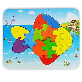 Đồ Chơi Gỗ Ghép Hình Puzzle Tottosi Cá 303011 (11 Mảnh Ghép)