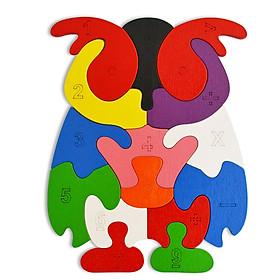 Đồ Chơi Gỗ Ghép Hình Puzzle Tottosi Cú Mèo 303016 (14 Mảnh Ghép)