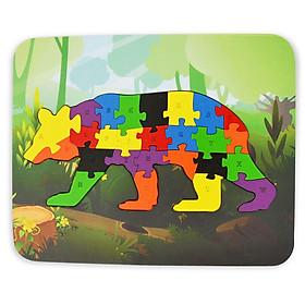 Đồ Chơi Gỗ Ghép Hình Puzzle Tottosi Gấu 303020 (26 Mảnh Ghép)