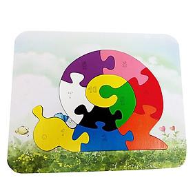 Đồ Chơi Gỗ Ghép Hình Puzzle Tottosi Ốc Sên 303022 (10 Mảnh Ghép)