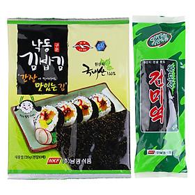 Combo Rong Biển Khô Cuộn Sushi Namkwang Food (20g) + Rong Biển Nấu Canh Nguyên Chất 100% Namkwang Food (40g)