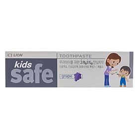 Kem Đánh Răng Trẻ Em Hương Nho CJ Lion Kids Safe (90g)