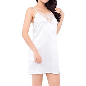 Đầm Ngủ Satin iBasic SW005 - Trắng