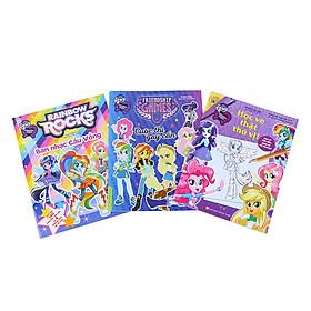 Combo Pony - Friendship Games - Tô Màu Có Hình Dán (Bộ 3 Quyển)